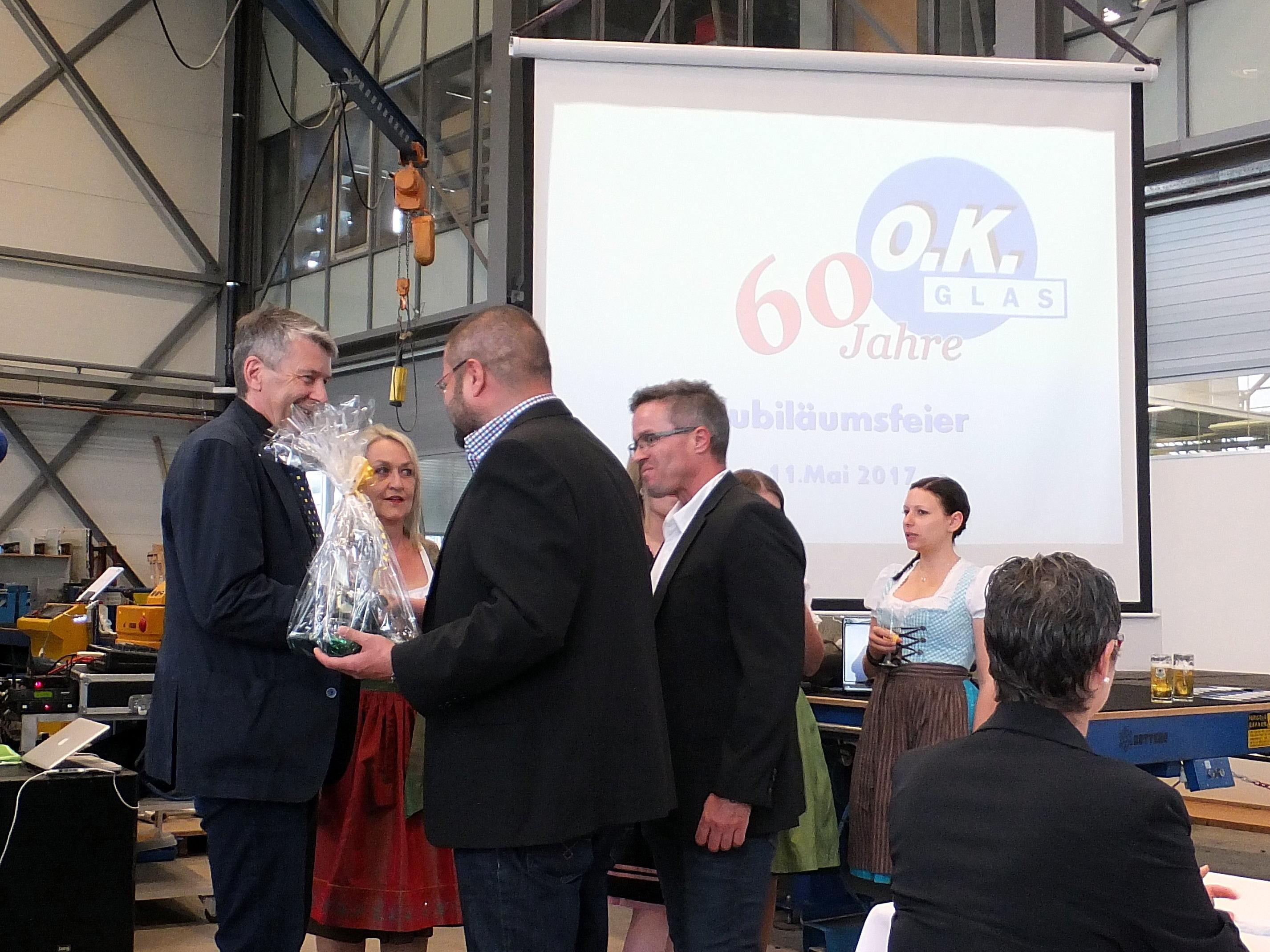 60 Jahre O.K. Glas - ein Grund, dieses Jubiläum zu feiern