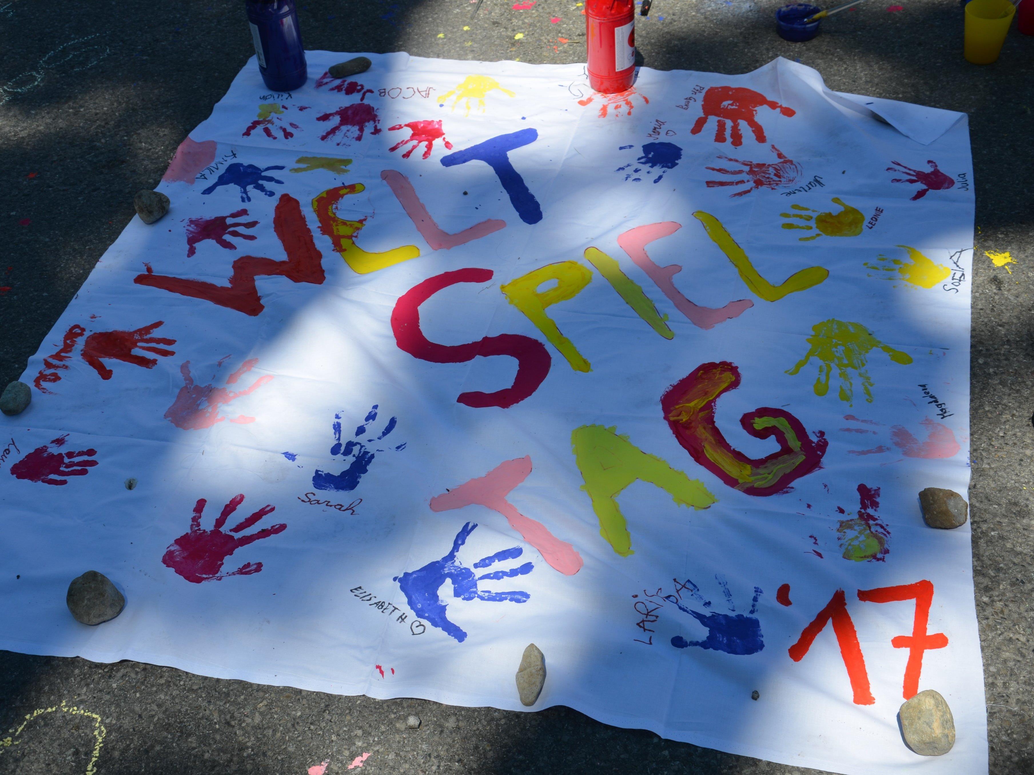 Weltspieltag mit Kindercafé und GauKi Sinnenmalen