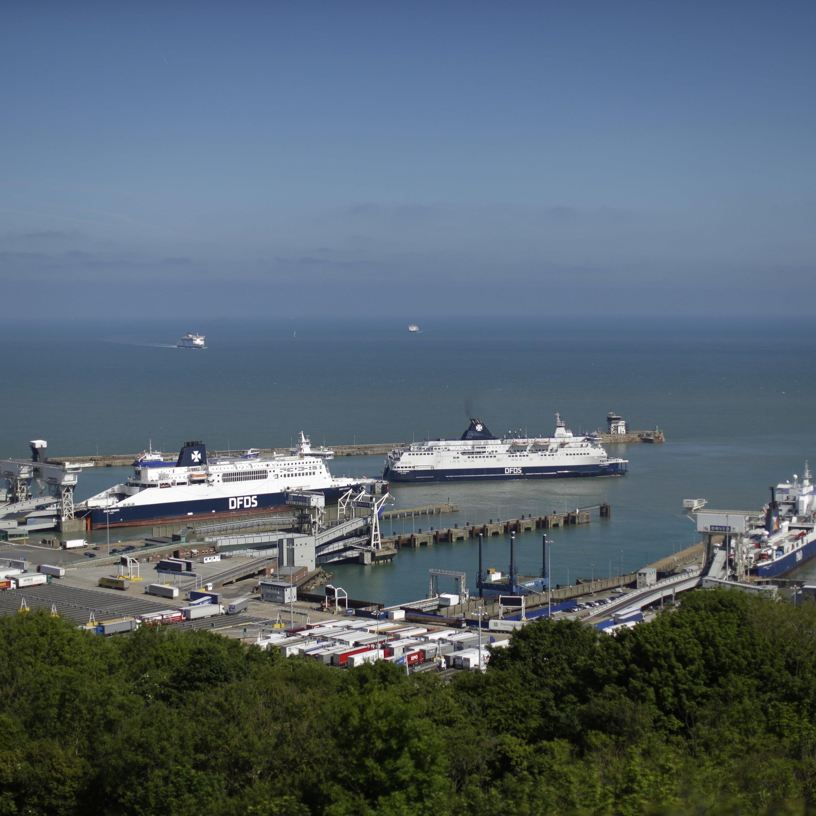 Banksy schlug am Hafen von Dover zu.