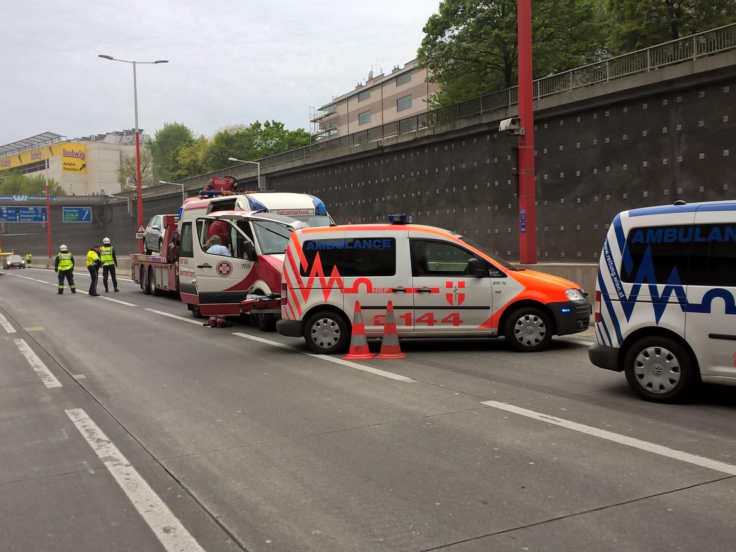 Der Einsatz fand auf der Südosttangente in Wien statt.