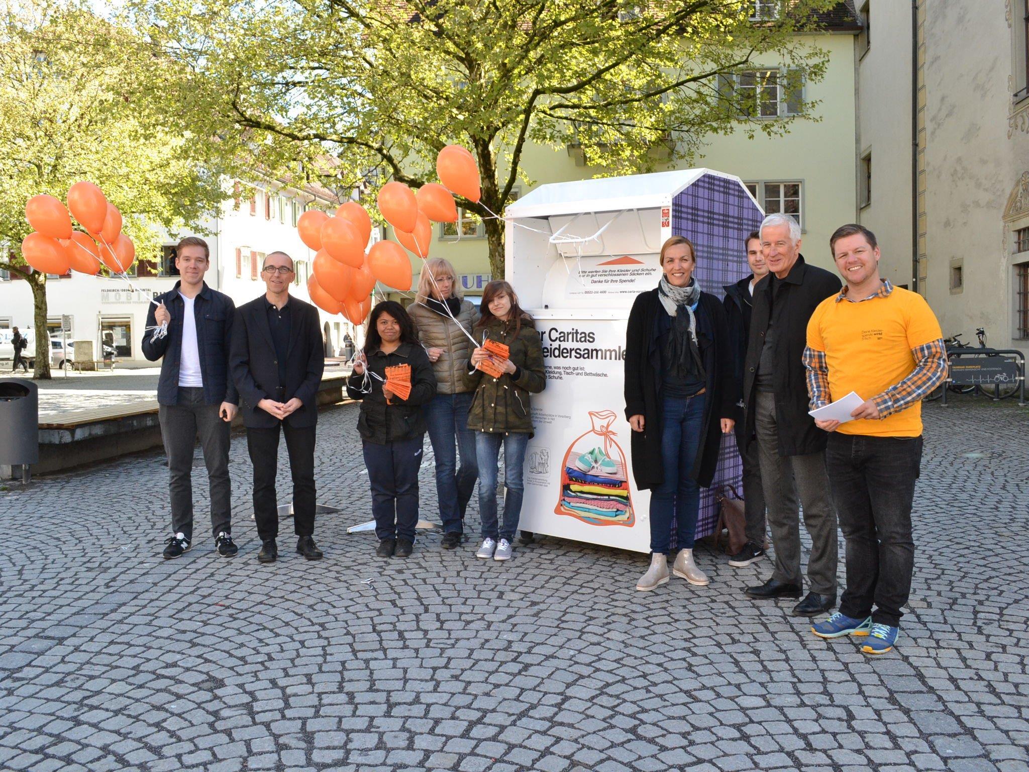 """vergangene Woche fand auch in Feldkirch ein """"Orange Day"""" der Caritas statt."""