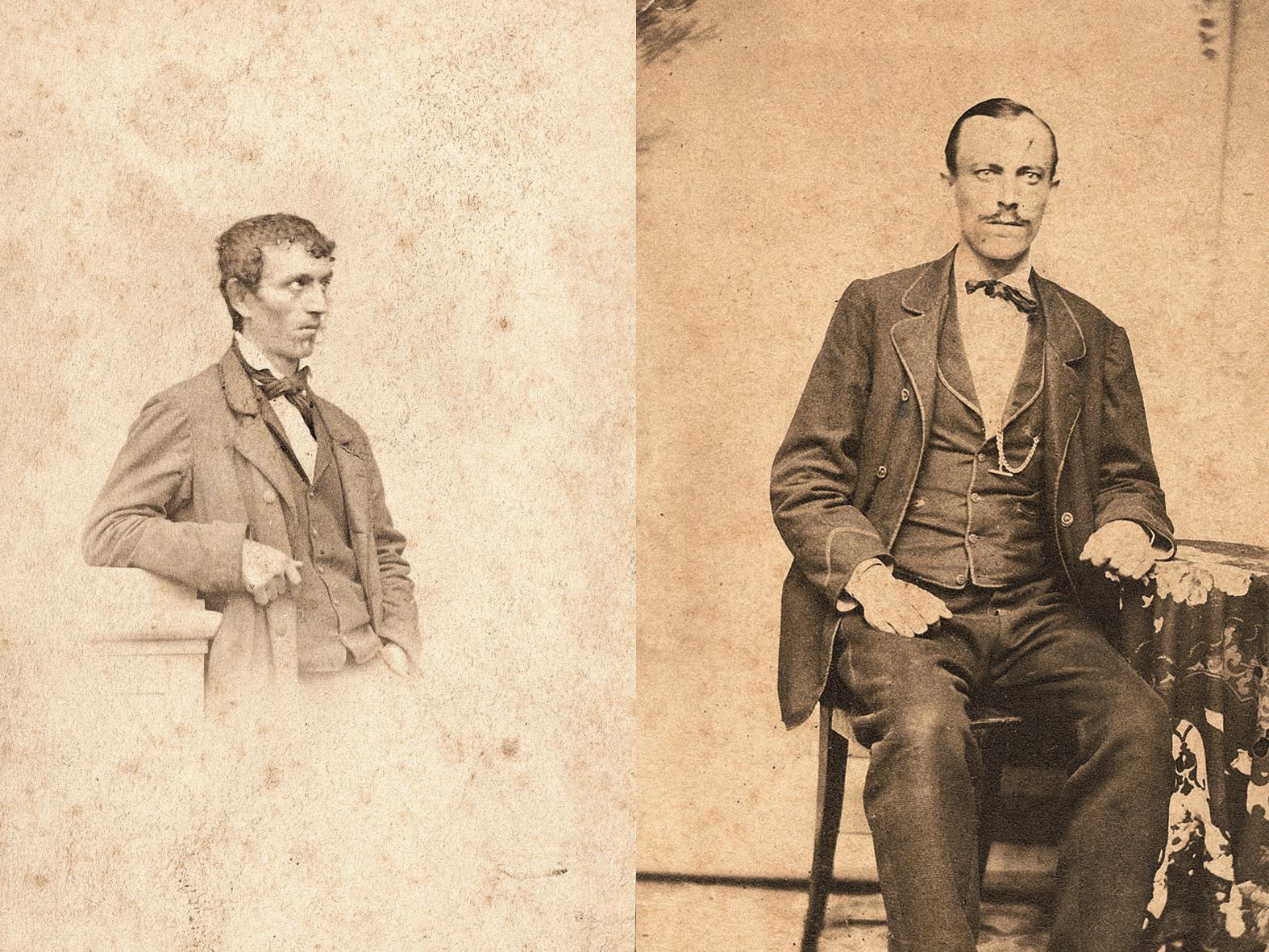 Franz Michael Felder (li.) und sein Freund und Cousin Johann Joseph Felder.