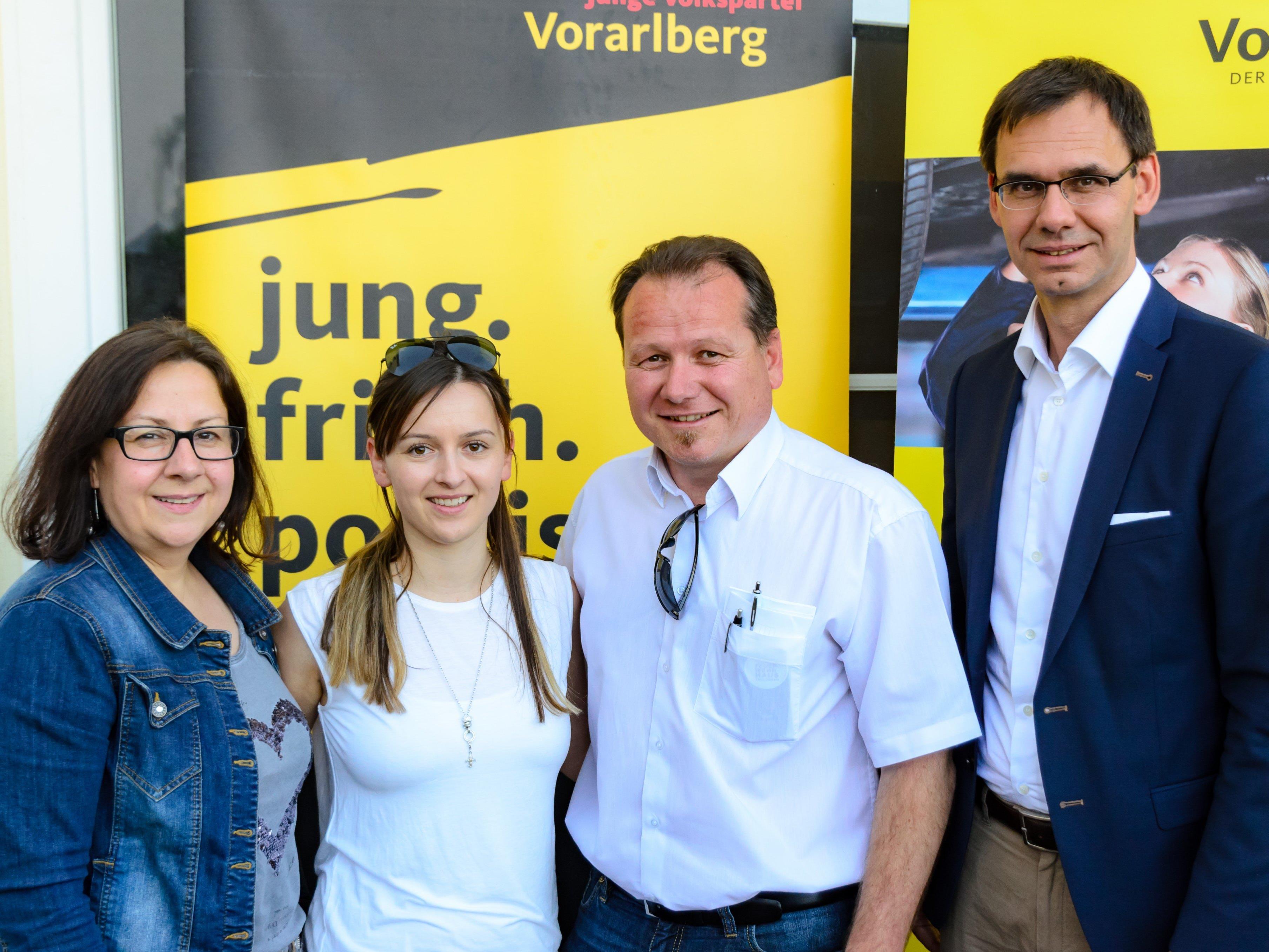 V.l.n.r.: Verena Walch, Samra Husic, Harald Witwer, Markus Wallner