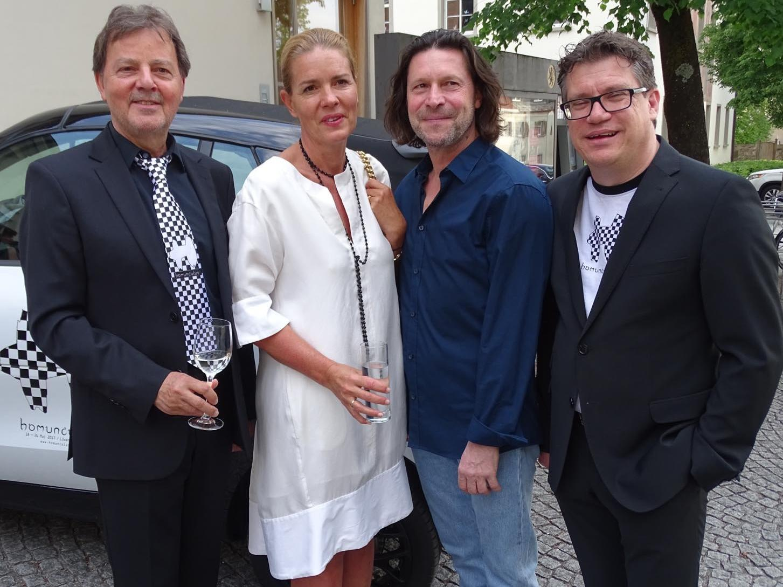 Präs. Günter Bucher, Stephanie Waldburg-Zeil, Pierre Schäfer und GF Dieter Heidegger (v.l.)