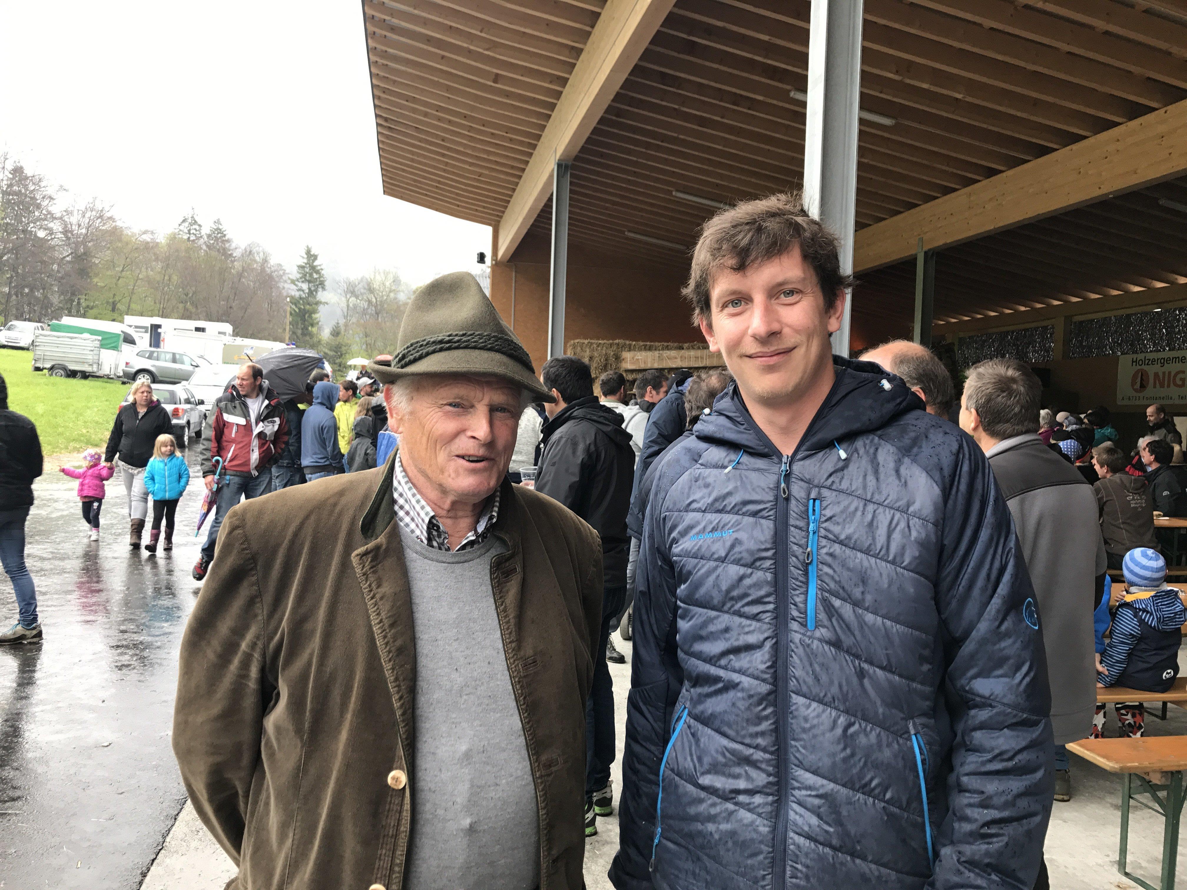 Hofherr Otto Elsensohn mit Johannes Groß