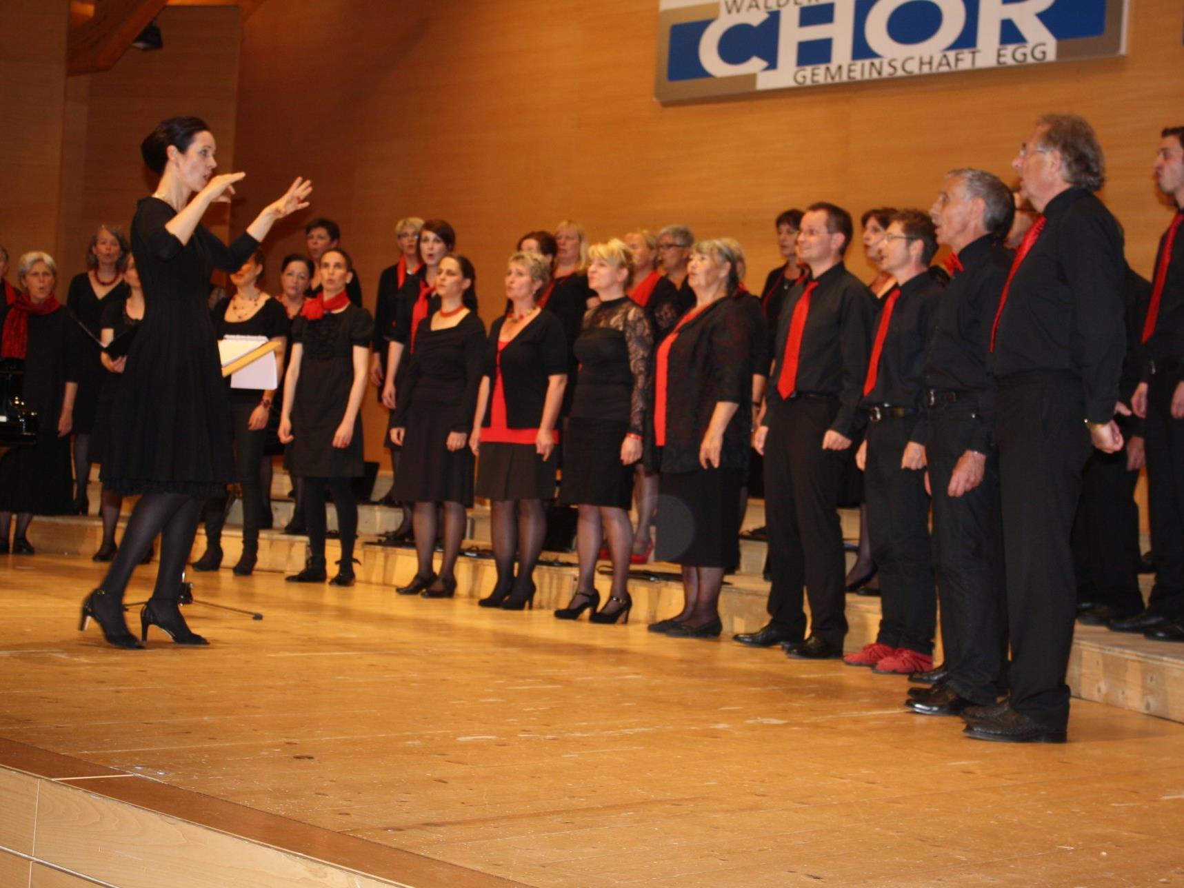 Die Wälder Sängerinnen und Sänger freuen sich auf viele Besucher bei den Konzerten.