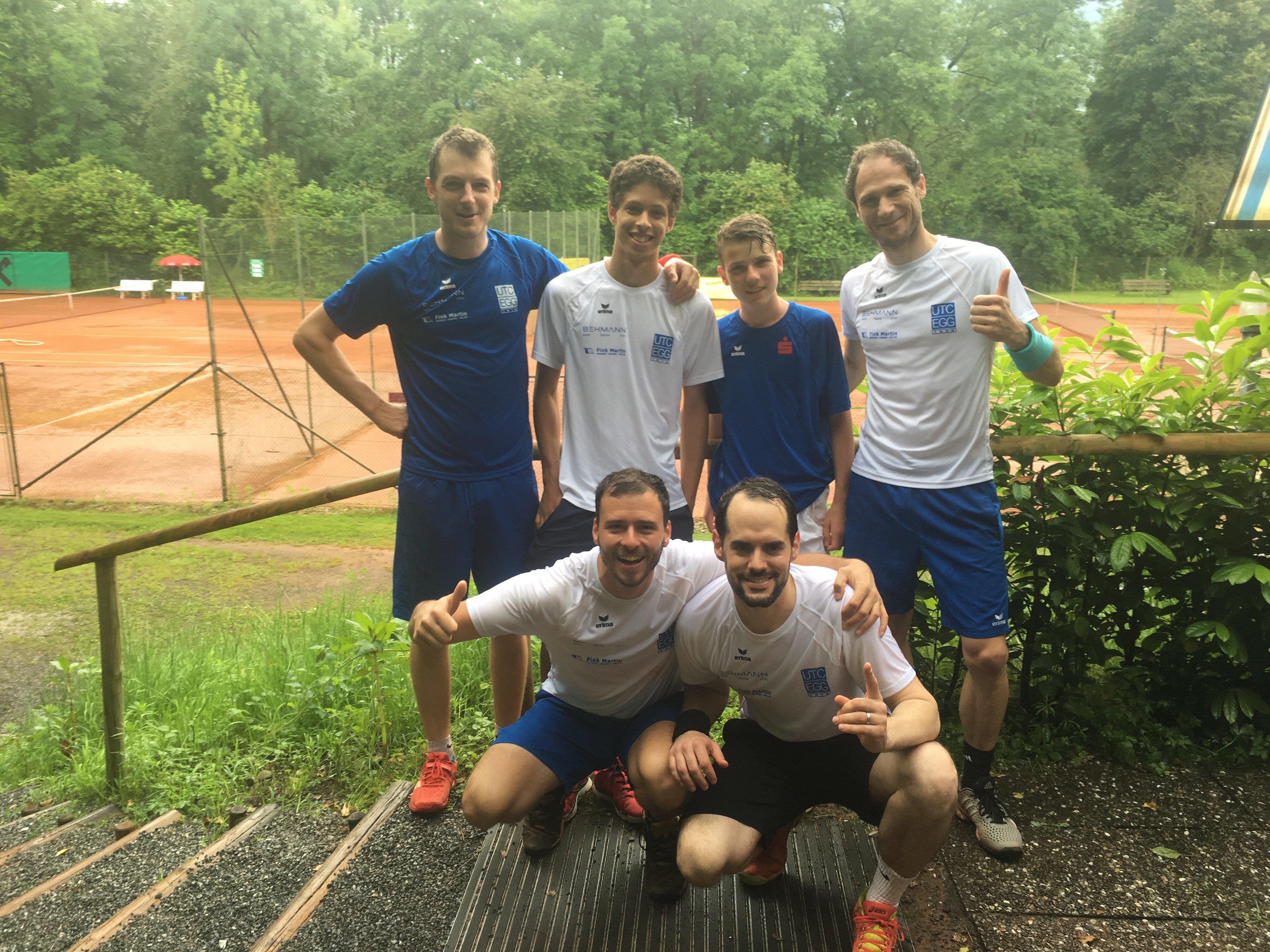 Das Herrenteam des UTC Egg spielt erstmals in der A-Liga
