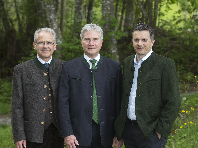 Das neue Landesjägermeister-Team in Vorarlberg: Sepp Bayer, Christof Germann und Jürgen Rauch.