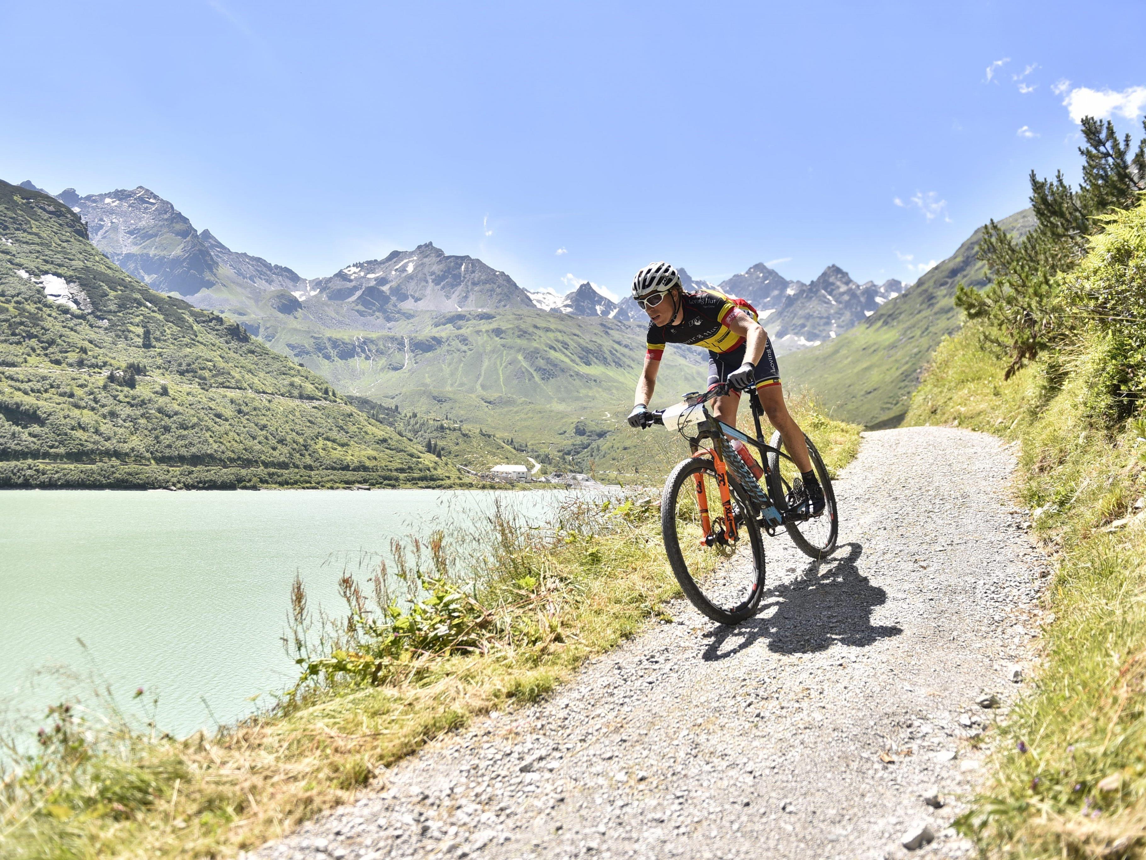 Biken in herrlicher Landschaft