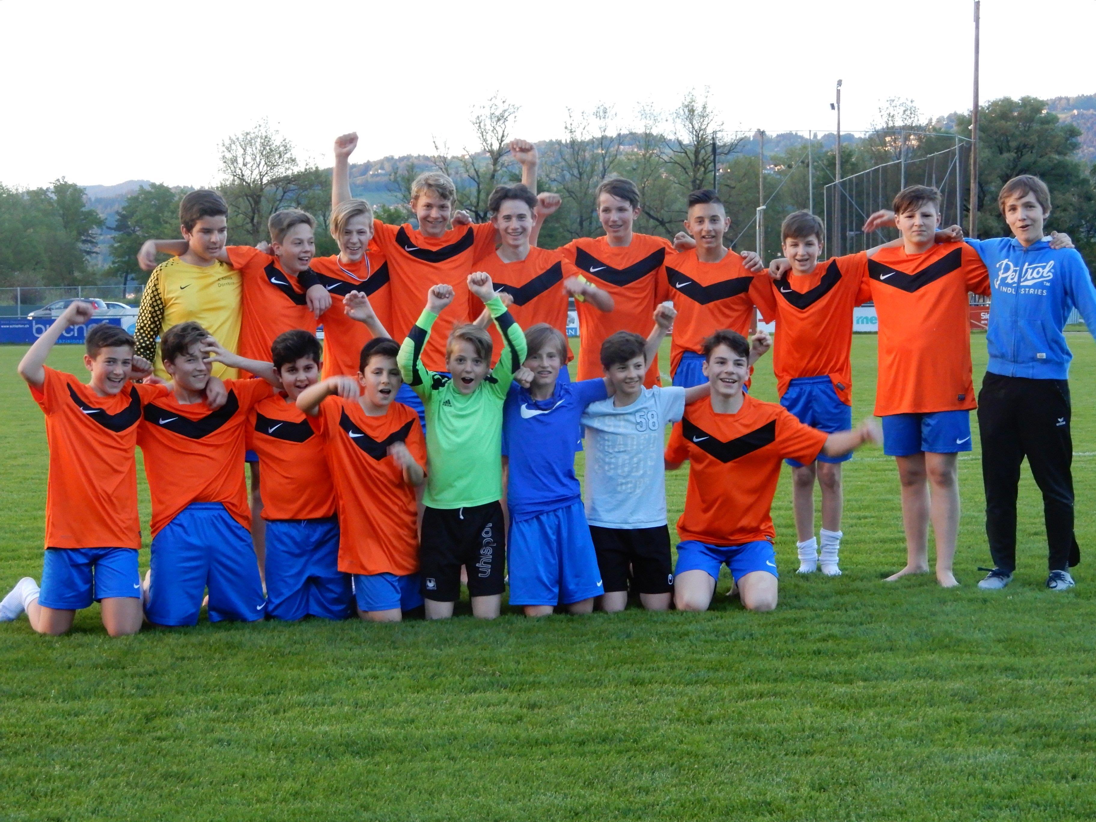 Die U14 des SC Admira Dornbirn hatte nach dem 6:0 Sieg allen Grund zum Jubeln.