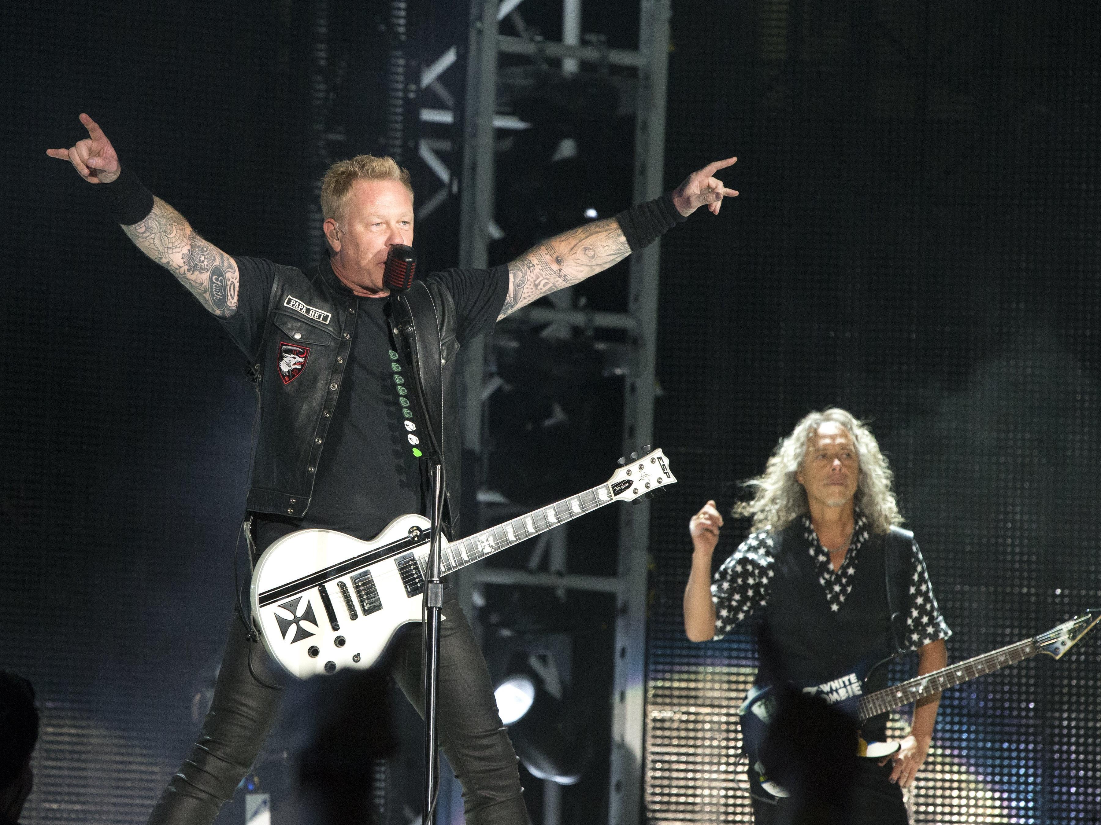 """Metallica rockten in Baltimore am 10. Mai während ihrer """"WorldWired Tour""""."""