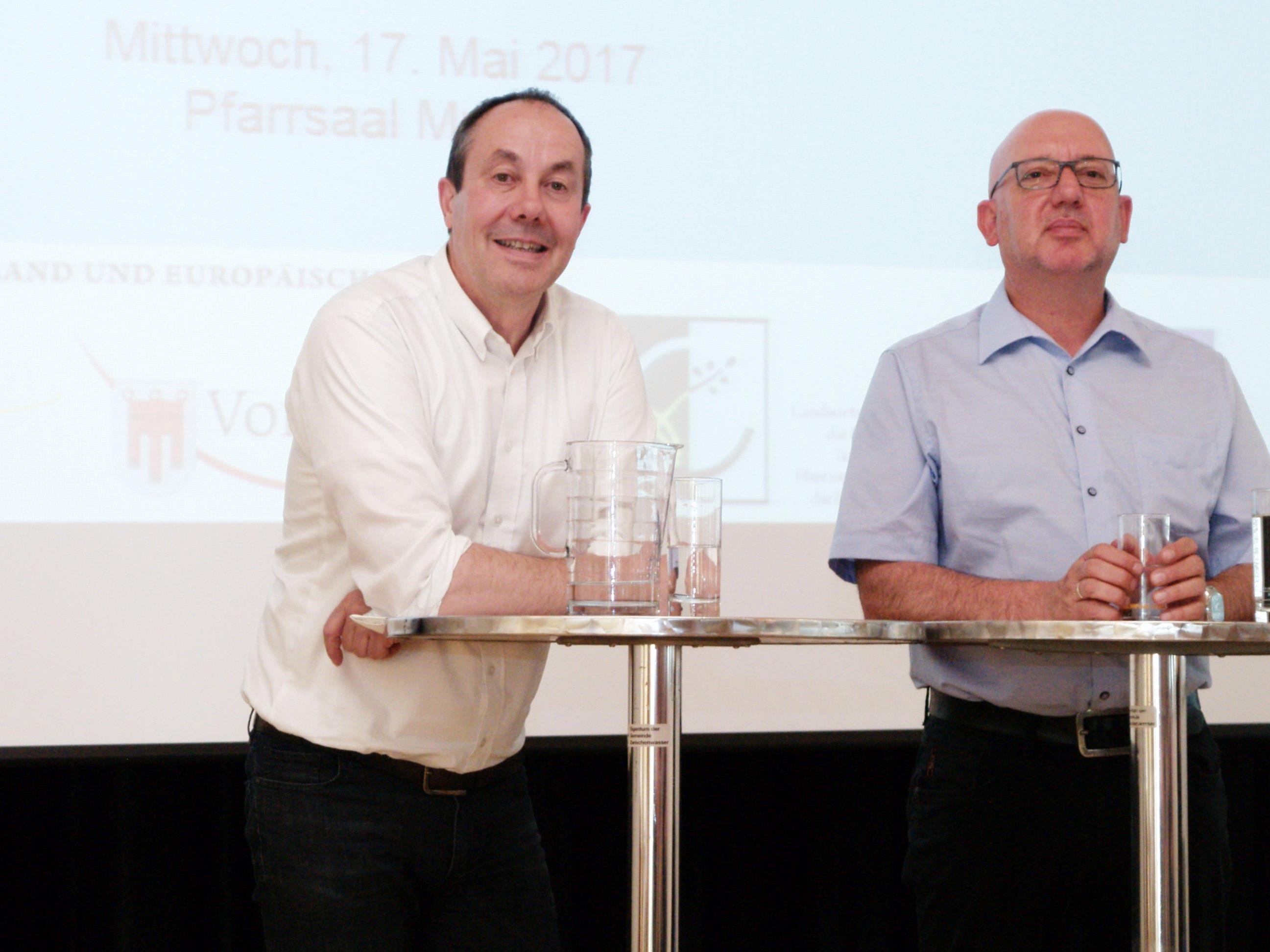 Andreas Prenn und  Gerhard Bargetz informierten die Besucher
