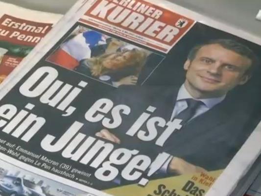 Die internationalen Pressestimmen zum Wahlsieg von Emmanuel Macron.