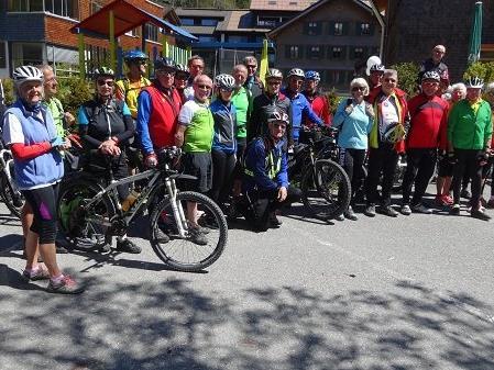 PVÖ-Radler unterwegs von Doren nach Schoppernau