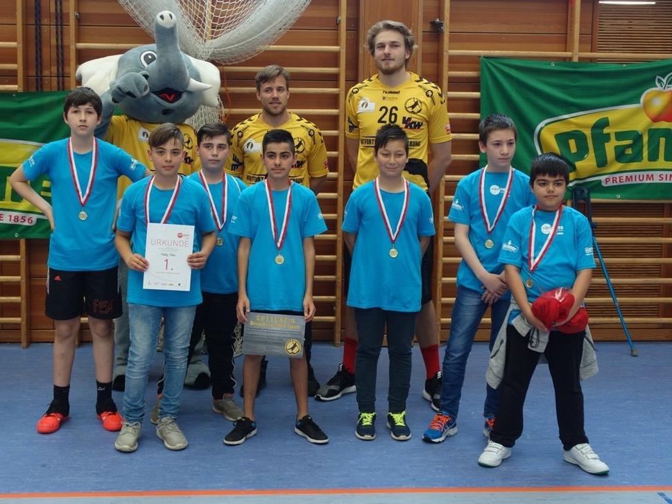 """Das Siegerteam der VMS Bregenz-Rieden, die """"Kiddy Kids""""."""