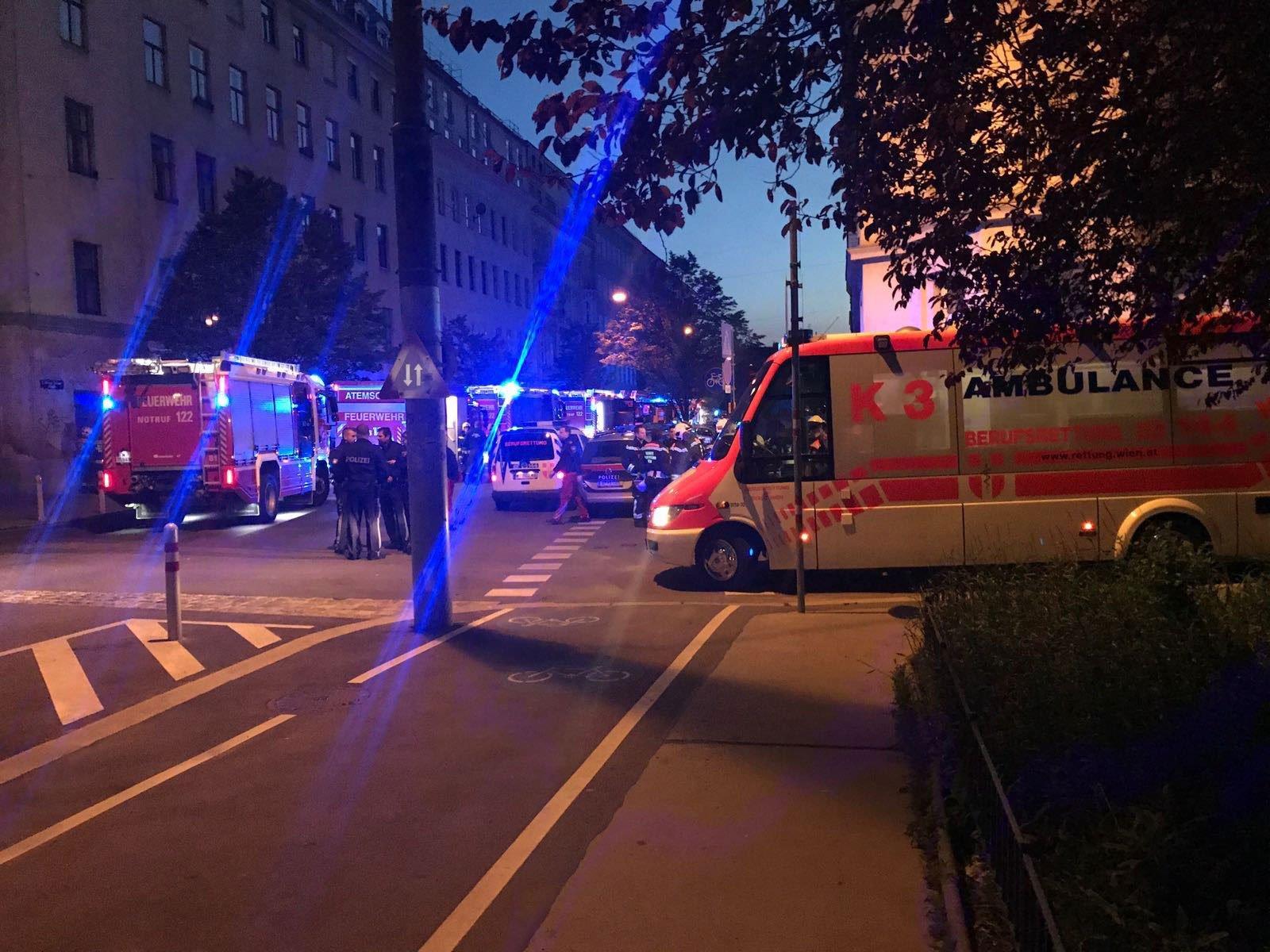 Einsatz beim nächtlichen Brand in Wien-Leopoldstadt
