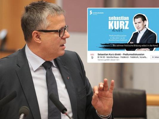 ÖVP-Klubobmann Roland Frühstück verteidigt die Empfehlung des Landesschulrats, Vorarlberger Schüler für eine Veransta,tung mit Sebastian Kurz vom Unterricht frei zu stellen.