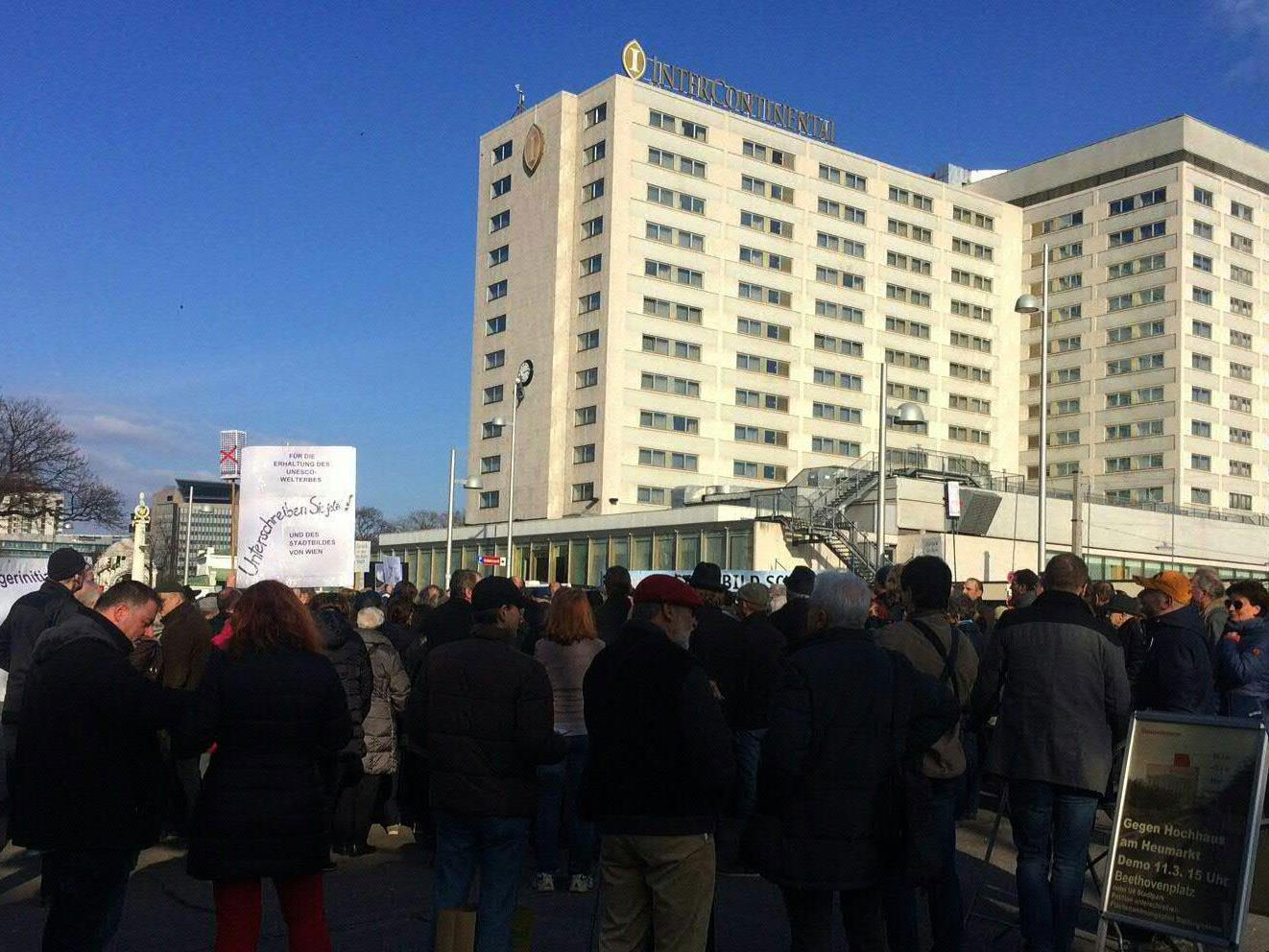 Gegen das geplante Projekt am Heumarkt wurde bereits demonstriert