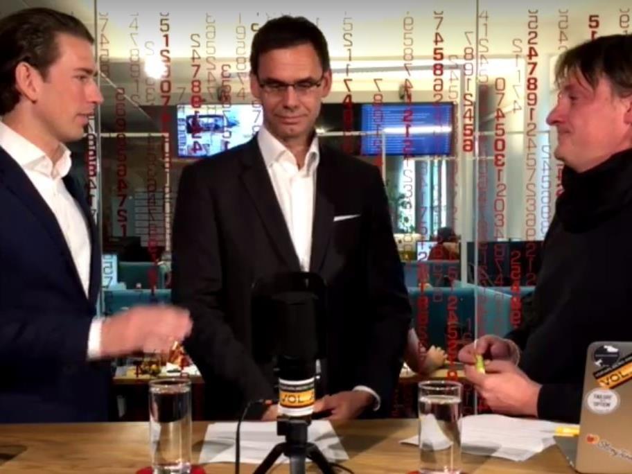 Außenminister Sebastian Kurz und LH Markus Wallner im VOL.AT-Live-Talk.