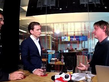 Im Live-Talk zu Gast: LH Wallner und Minister Kurz.