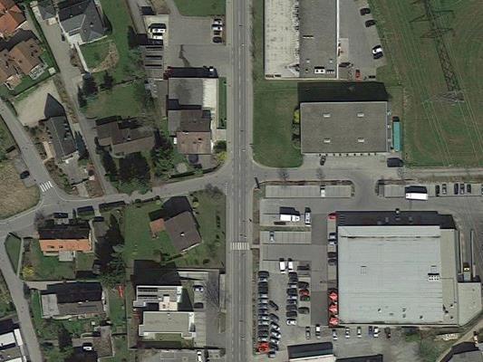 An dieser Kreuzung in Lochau kam es zum Unfall.