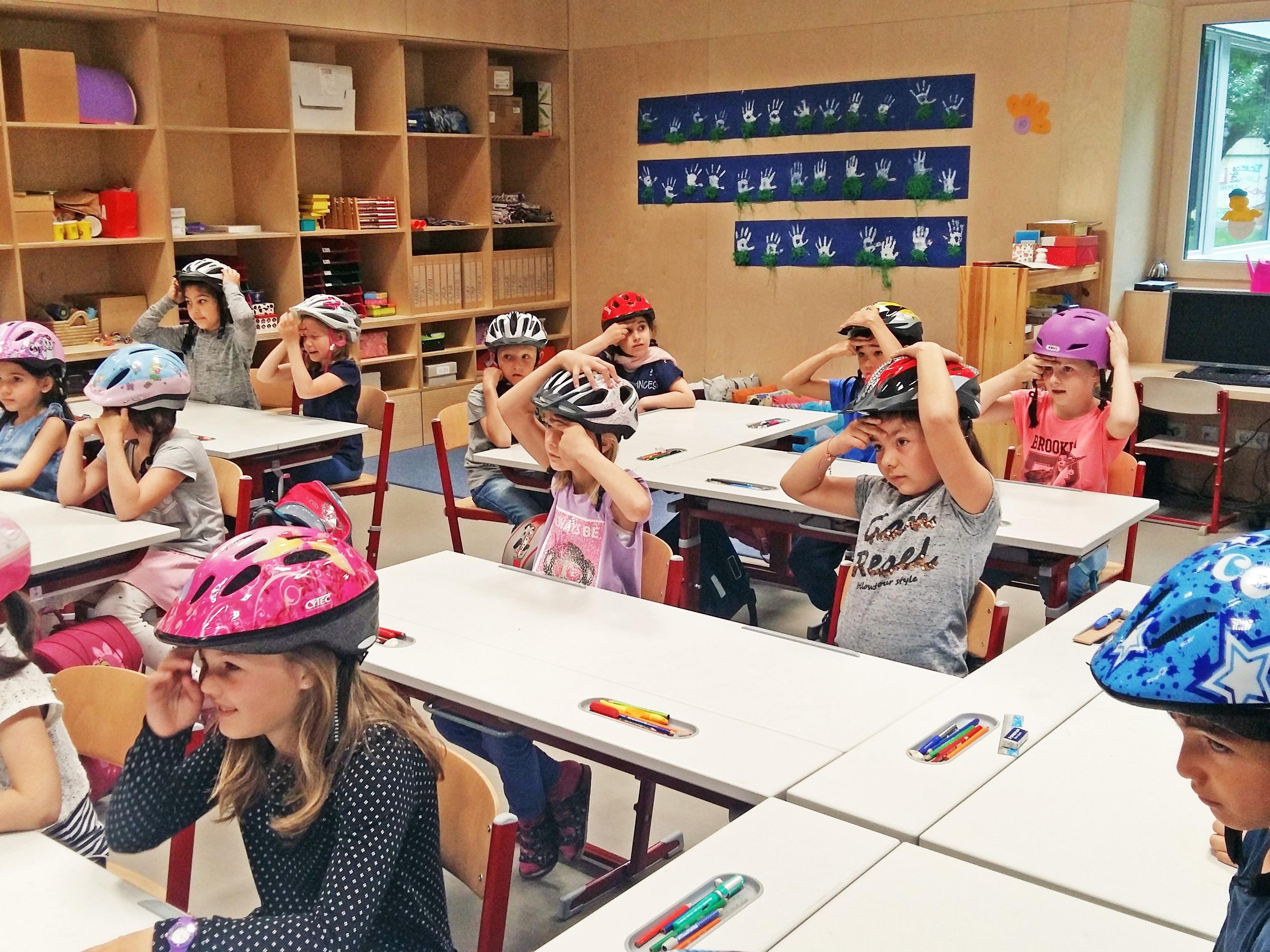 Die Kinder waren interessiert und engagiert bei der Sache.