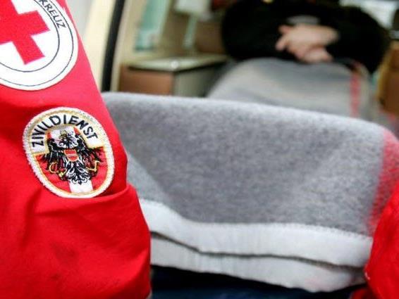 Mit der Rettung ins LKH Bregenz gerbracht