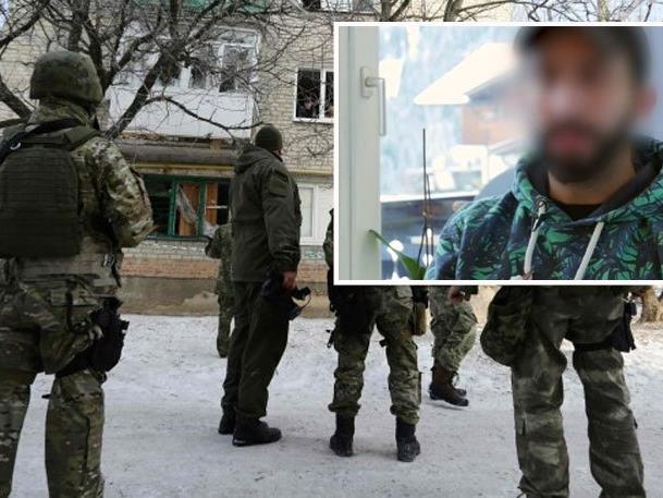 Angehöriger der 59. Brigade der regulären ukrainischen Streitkräfte