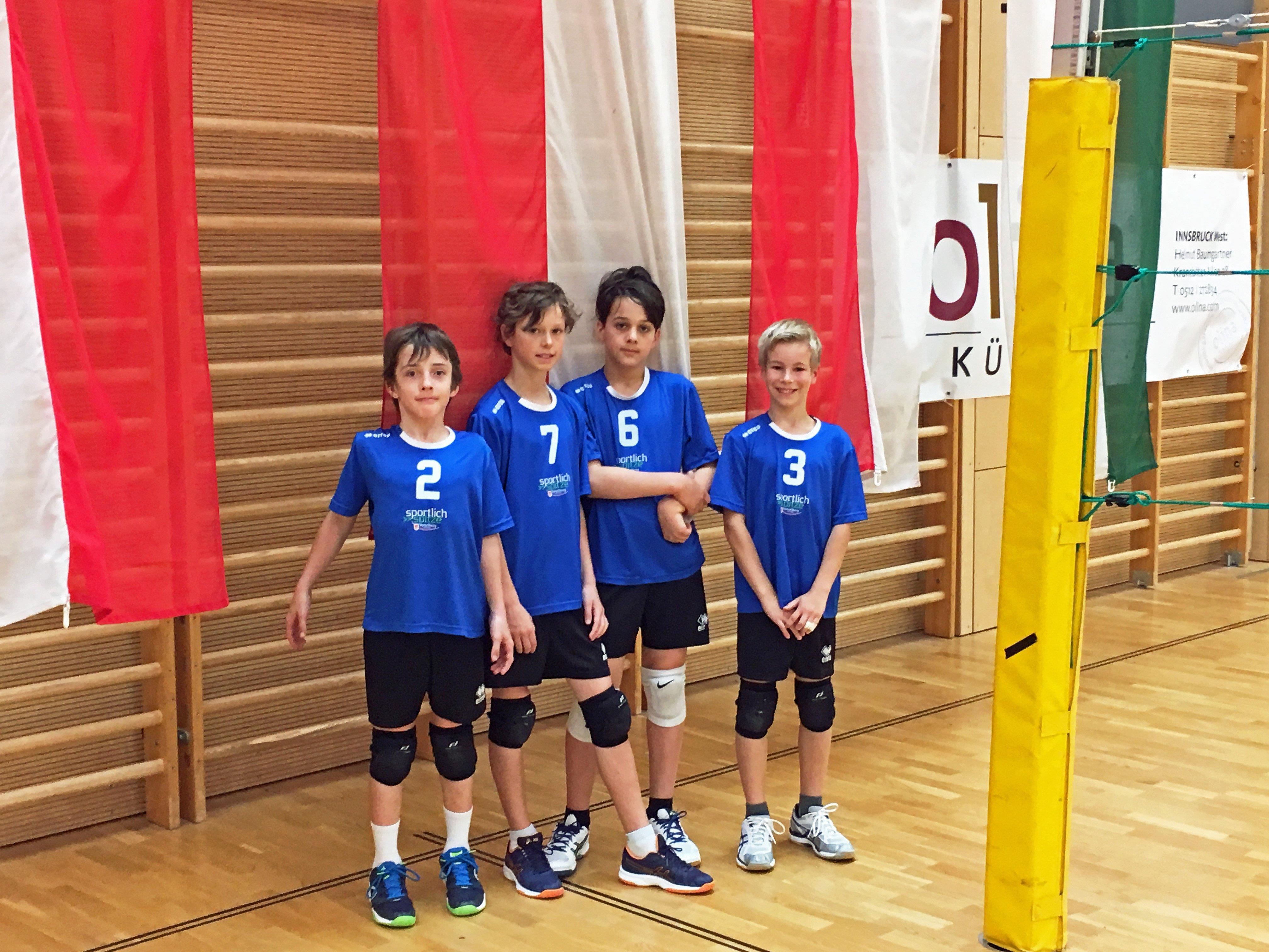 Die U11 Buben des Volleyballclub Dornbirn sind Vize-Staatsmeister.