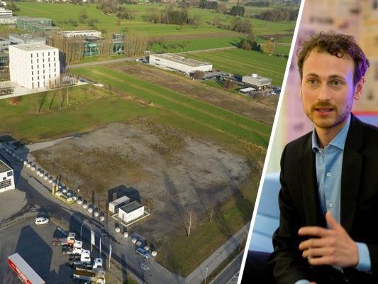 Daniel Zadra von den Grünen kritisiert die Gewerbeansiedlunfgspolitik der Gemeinde Lustenau.