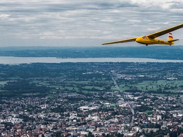 Das Segelflugzeug verlor die Haube in einer Höhe von 3.400 Metern.