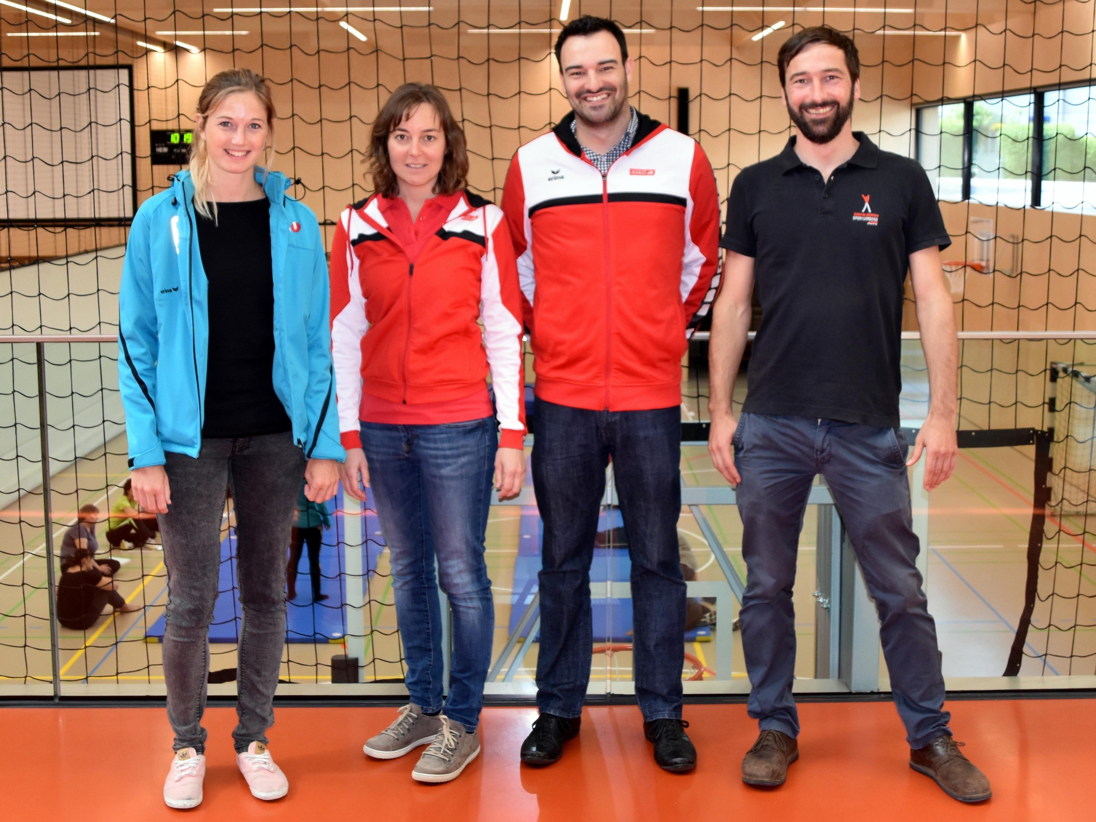 Veranstaltungsteam Lisa Laninschegg (Sportunion), Elisabeth Jetzinger (ASKÖ), Christoph Fröhle (ASKÖ) und Manfred Entner (ASVÖ)