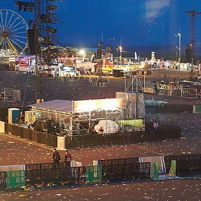 Das Festivalgelände musste geräumt werden
