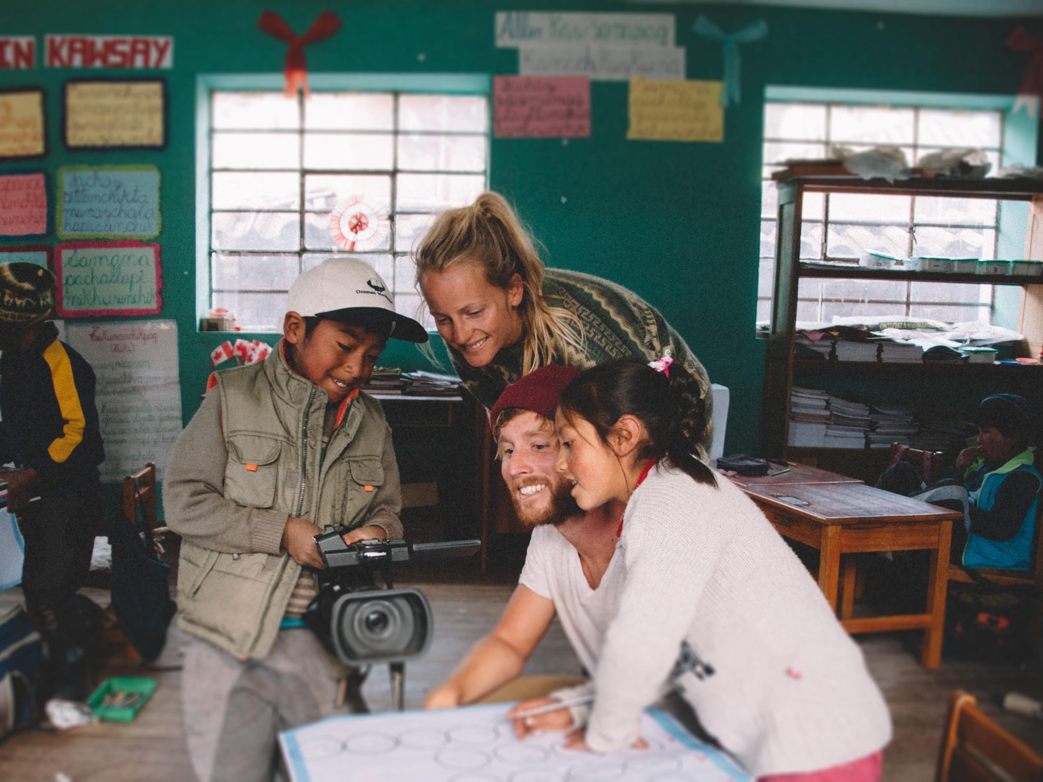 Die Feldkircher Globetrotter Philipp Mück und Liz Schrenk unterstützen ein Hilfsprojekt in Peru.