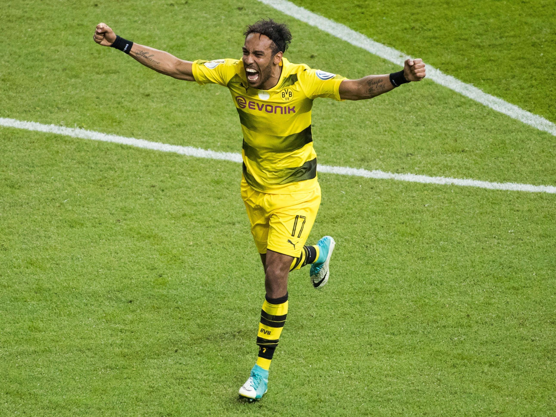 Im DFB-Pokalfinale jubelte Pierre-Emerick Aubameyang noch für Dortmund.