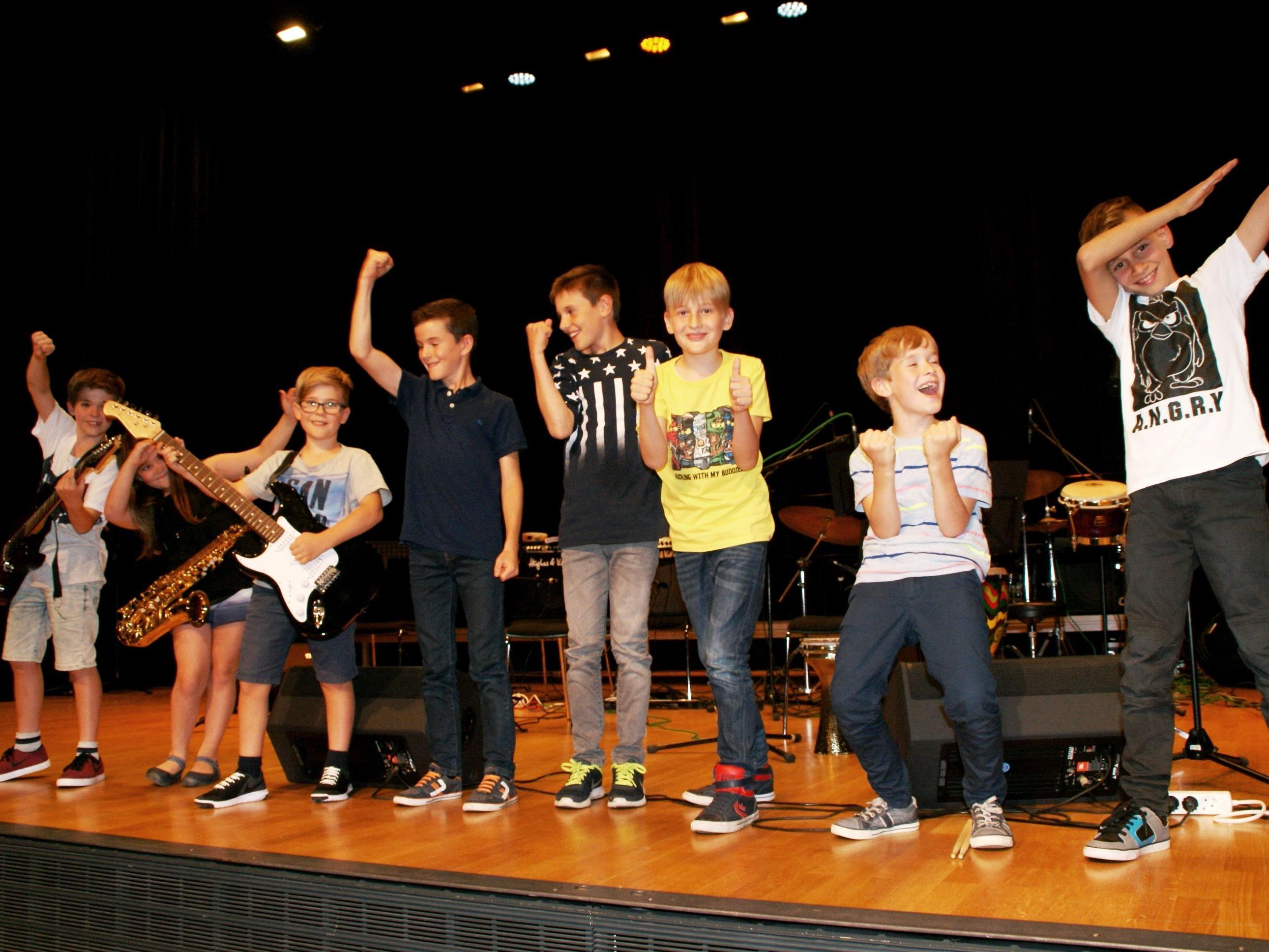 Die Kids rockten im KOM - das Publikum war begeistert!