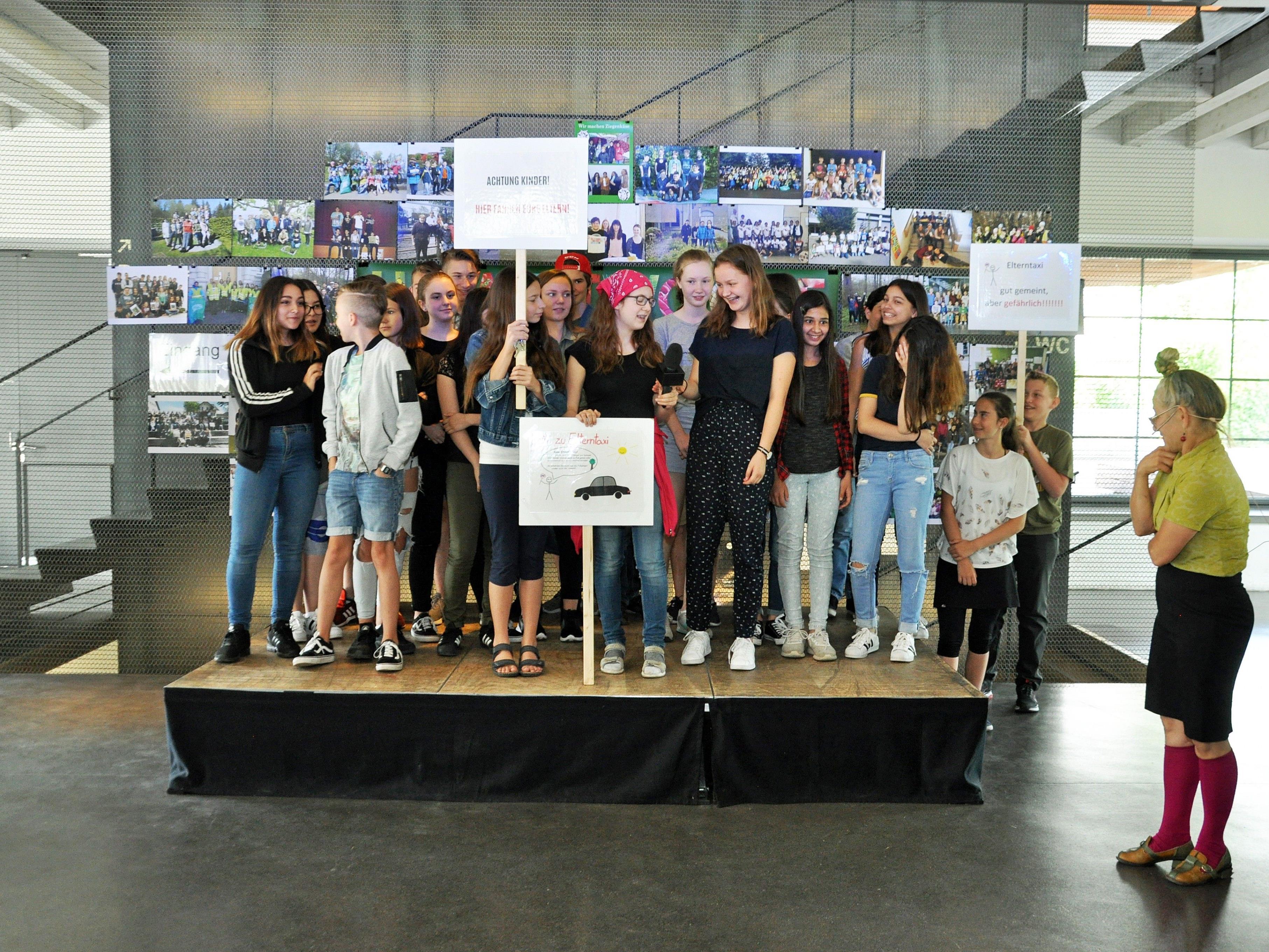 Die Schüler präsentierten ihre vielseitigen Projekte zur Umweltwoche bei den Schulaktionstagen.