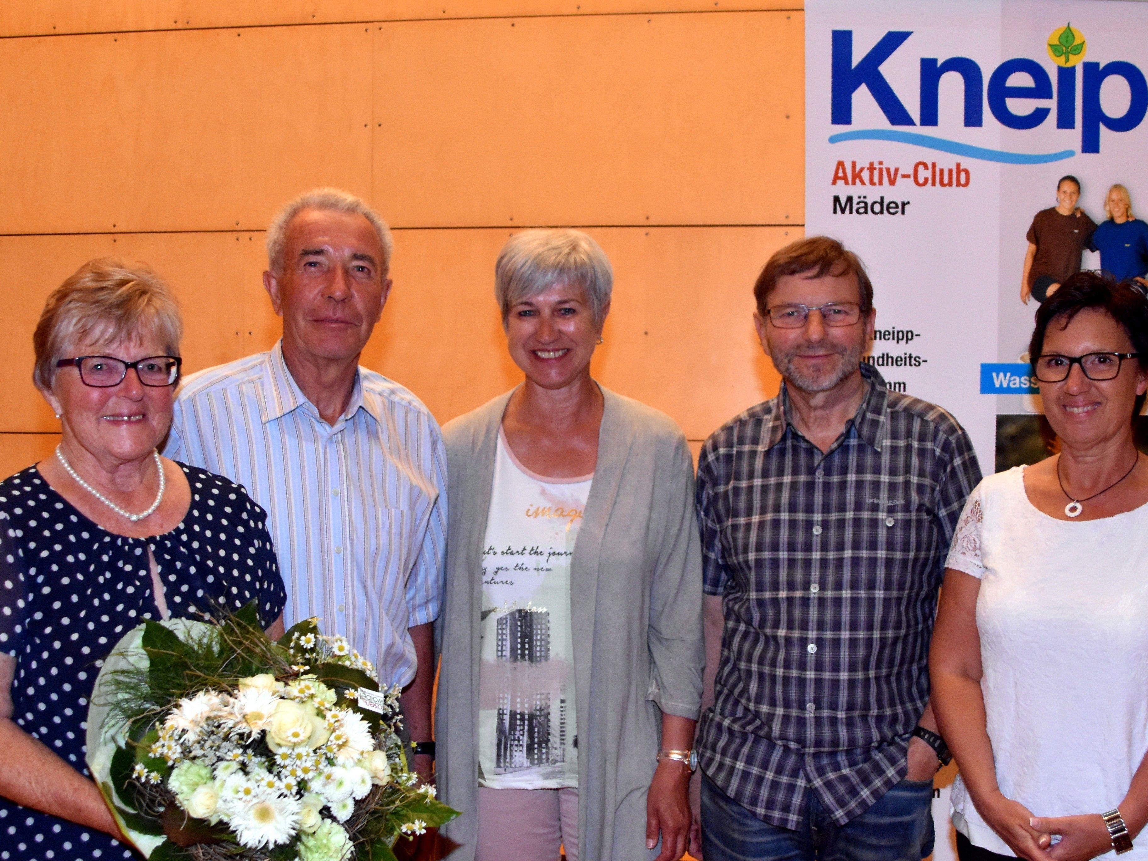 Neuer Vorstand: Irmgard Staudacher, Emil Pountner, Elisabeth Zerlauth, Günter Giesinger und Renate Mader
