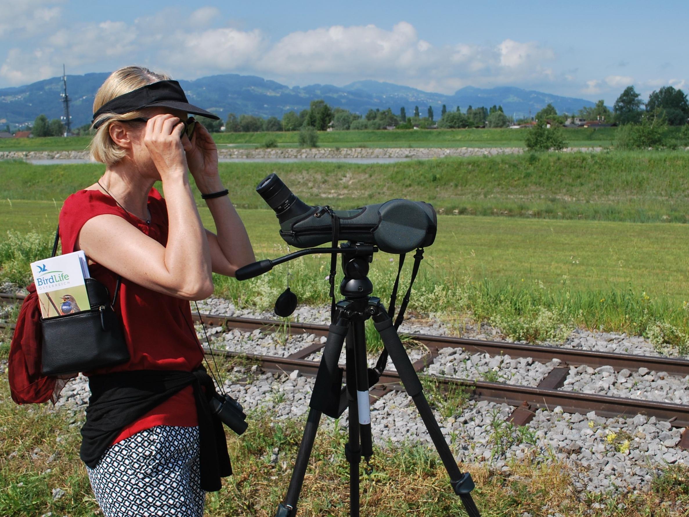 Ein nicht alltägliches Hobby: Vögel beobachten.