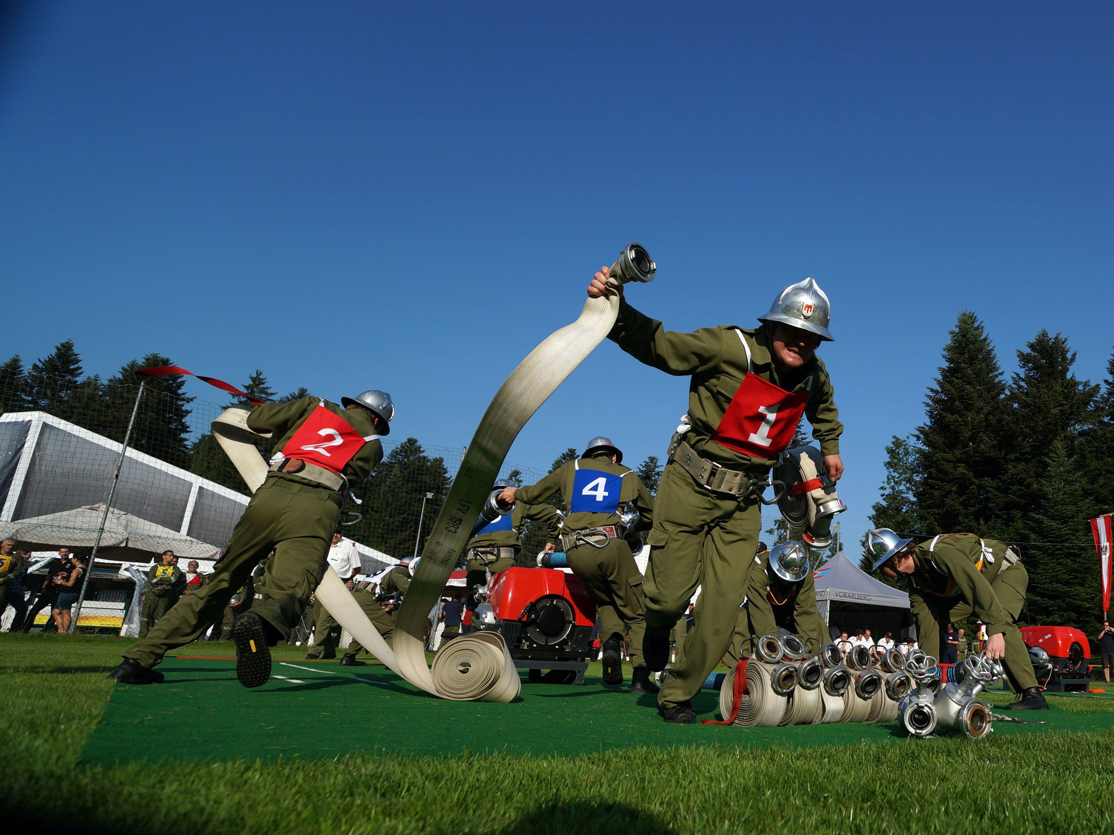 Auch zahlreiche Veranstaltungen finden für die Feuerwehrjugend statt - hier beim Landesfeuerwehrfest in Doren 2013