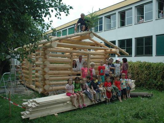 Richtfest Holzhaus Kindergarten.
