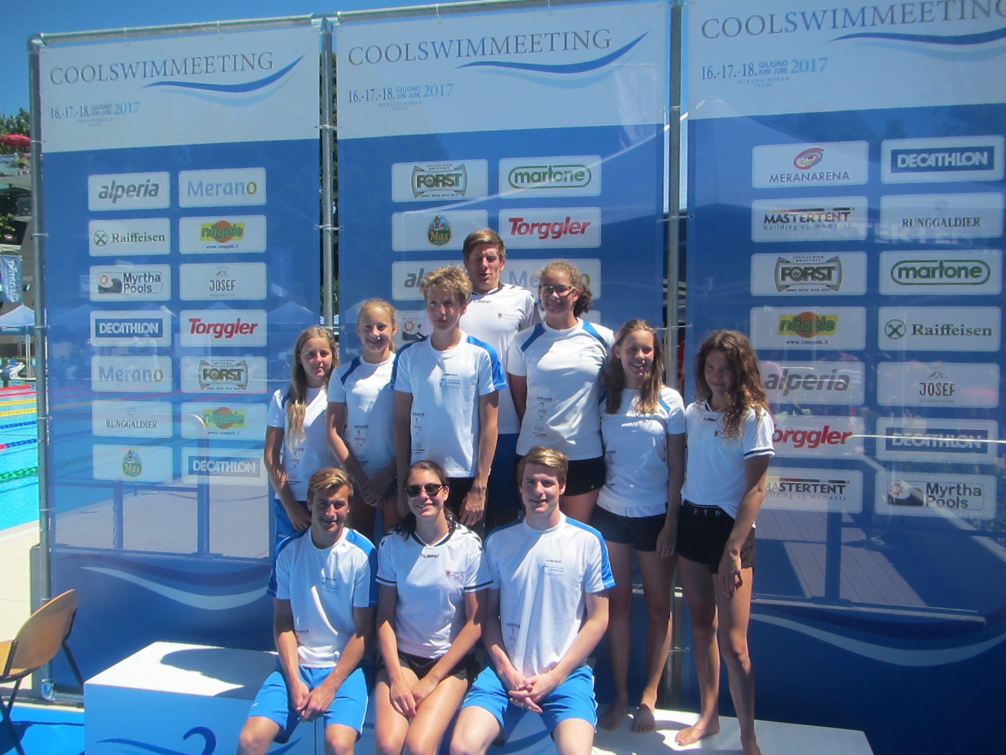Mannschaft des Schwimmclub TS Dornbirn