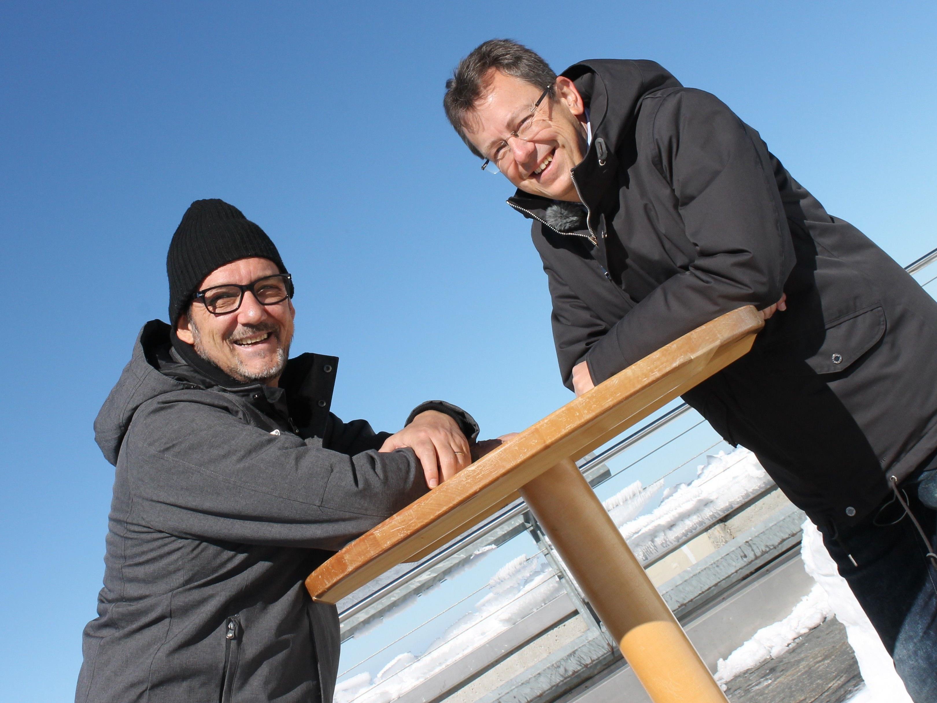 In der 10-teiligen LÄNDLE-TALK-on Tour Serie plaudert Andreas Seeburger auch mit Dr. Wolfgang Frick am höchsten Berg der Ostschweiz