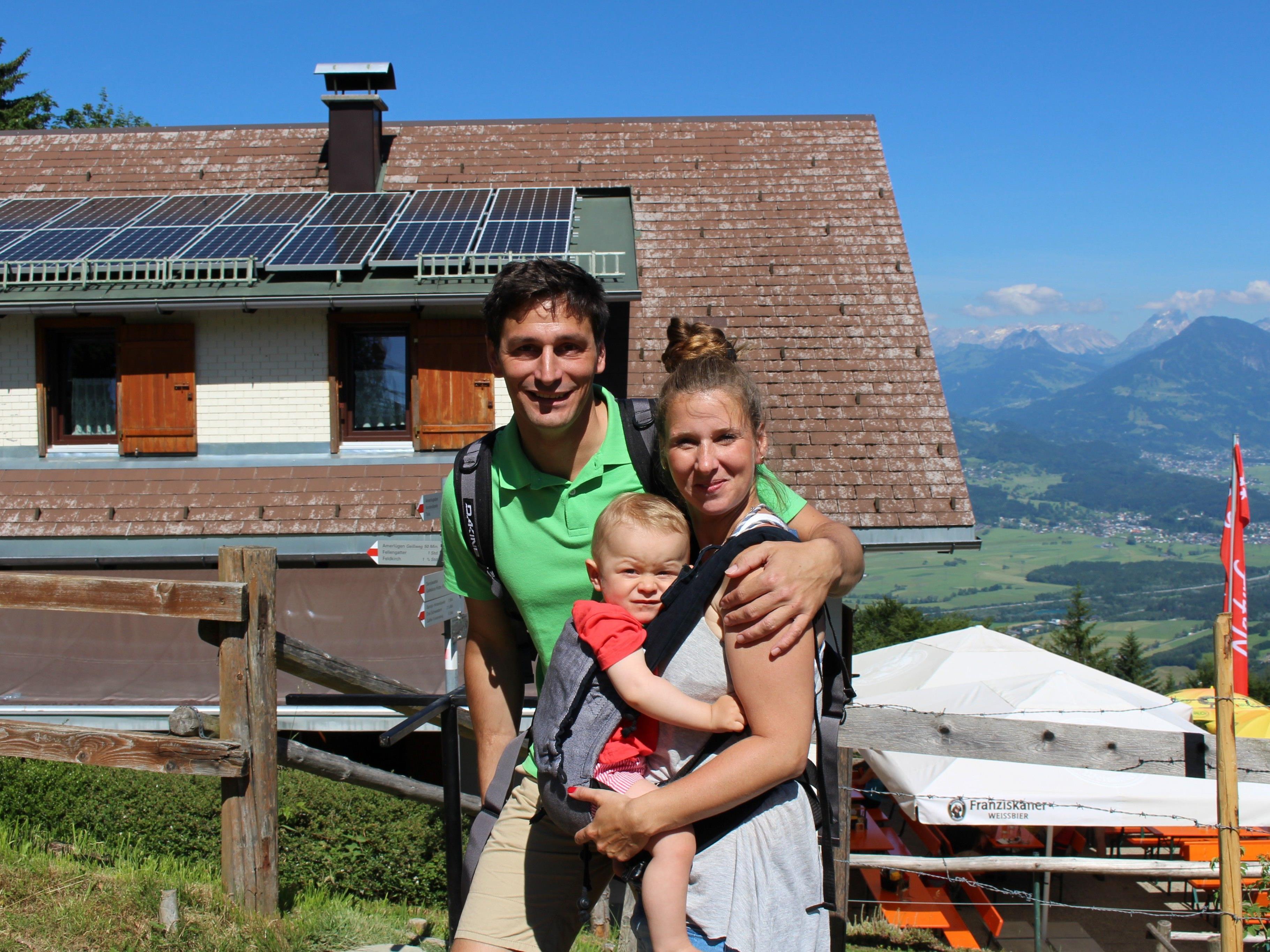 Florian, Bianka und Vincent Götz gehen gern aufs Naturfreundehaus Feldkircher Hütte.