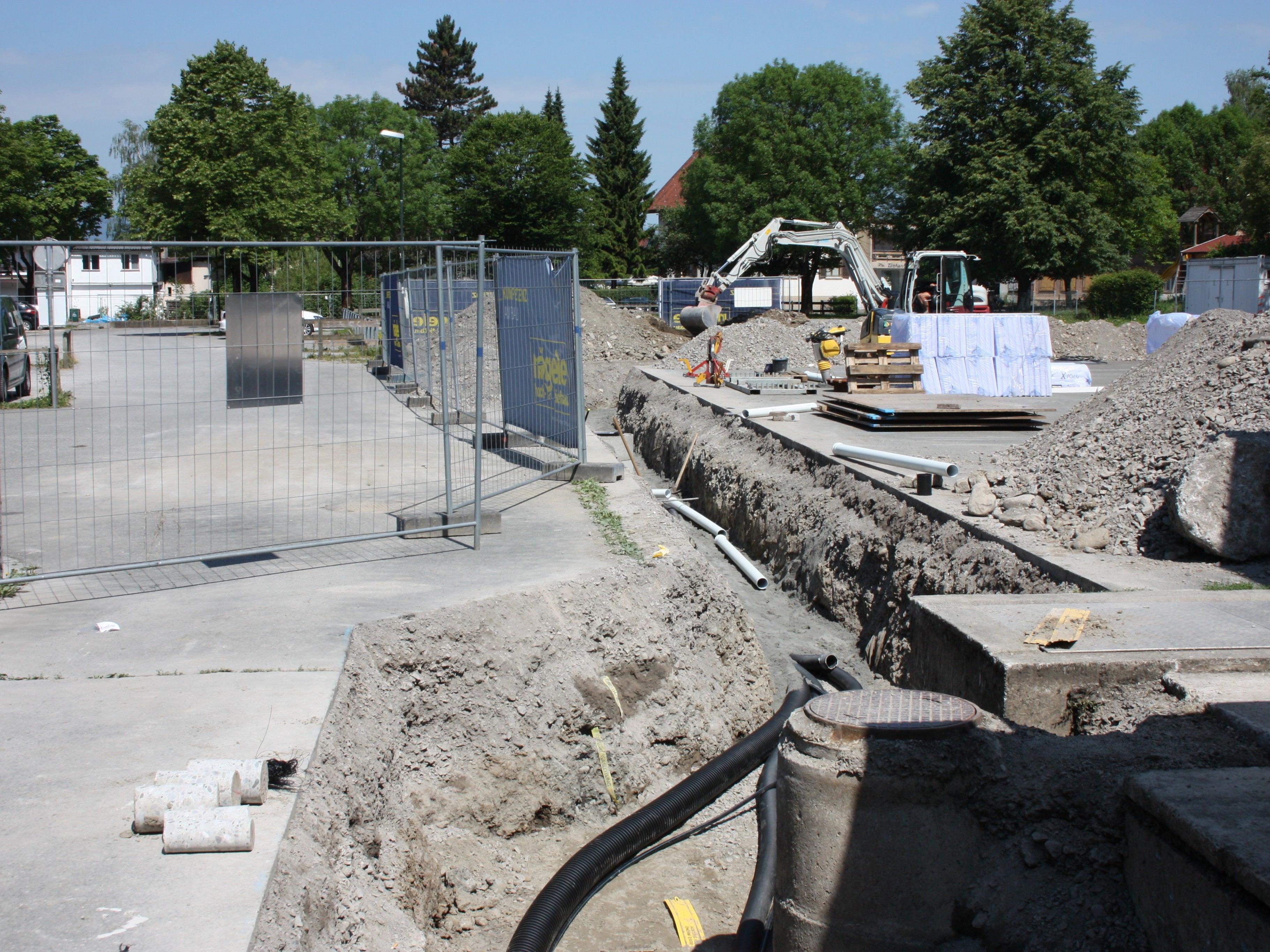 Die zweite Bauetappge der Kunsteisbahn Gastra hat begonnen