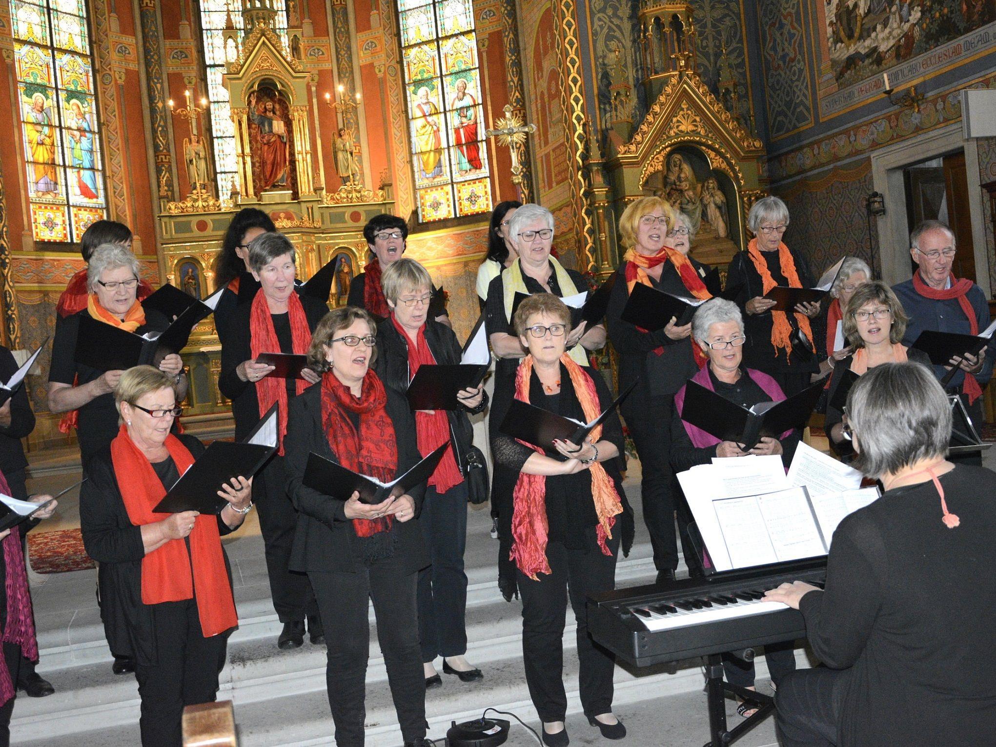 Die musikalische Umrahmung des Abends zu feurigen Bildern gab der Kirchenchor Hatlerdorf.