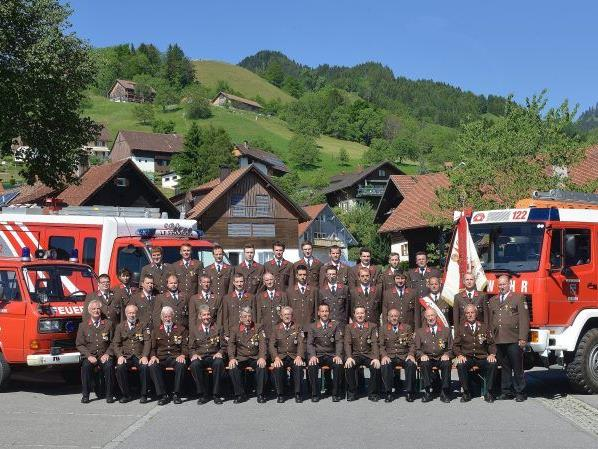 Die Mannschaft der Feuerwehr Fraxern.