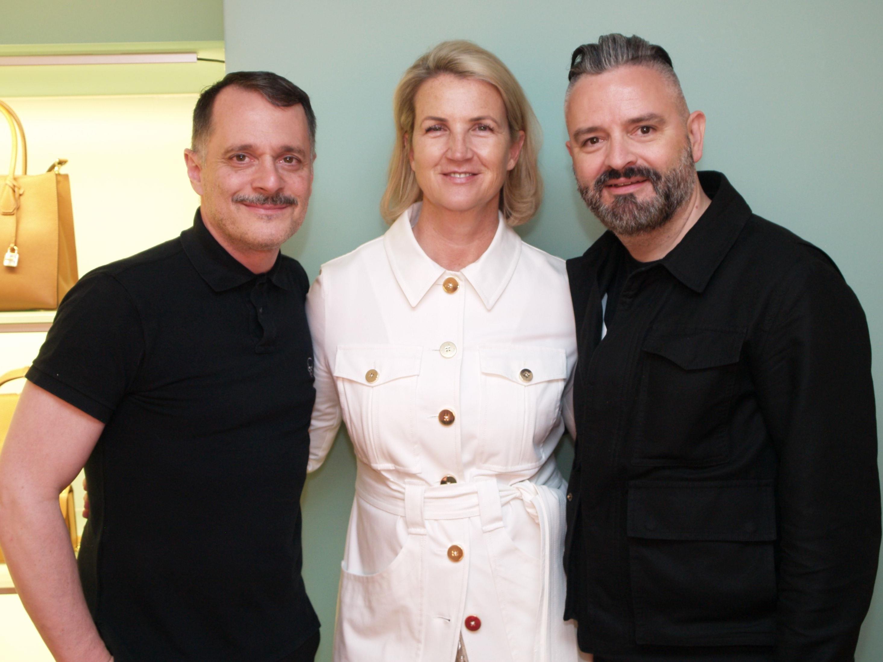 Susanne Sagmeister mit  den Designern Johnny Talbot  und Adrian Runhof
