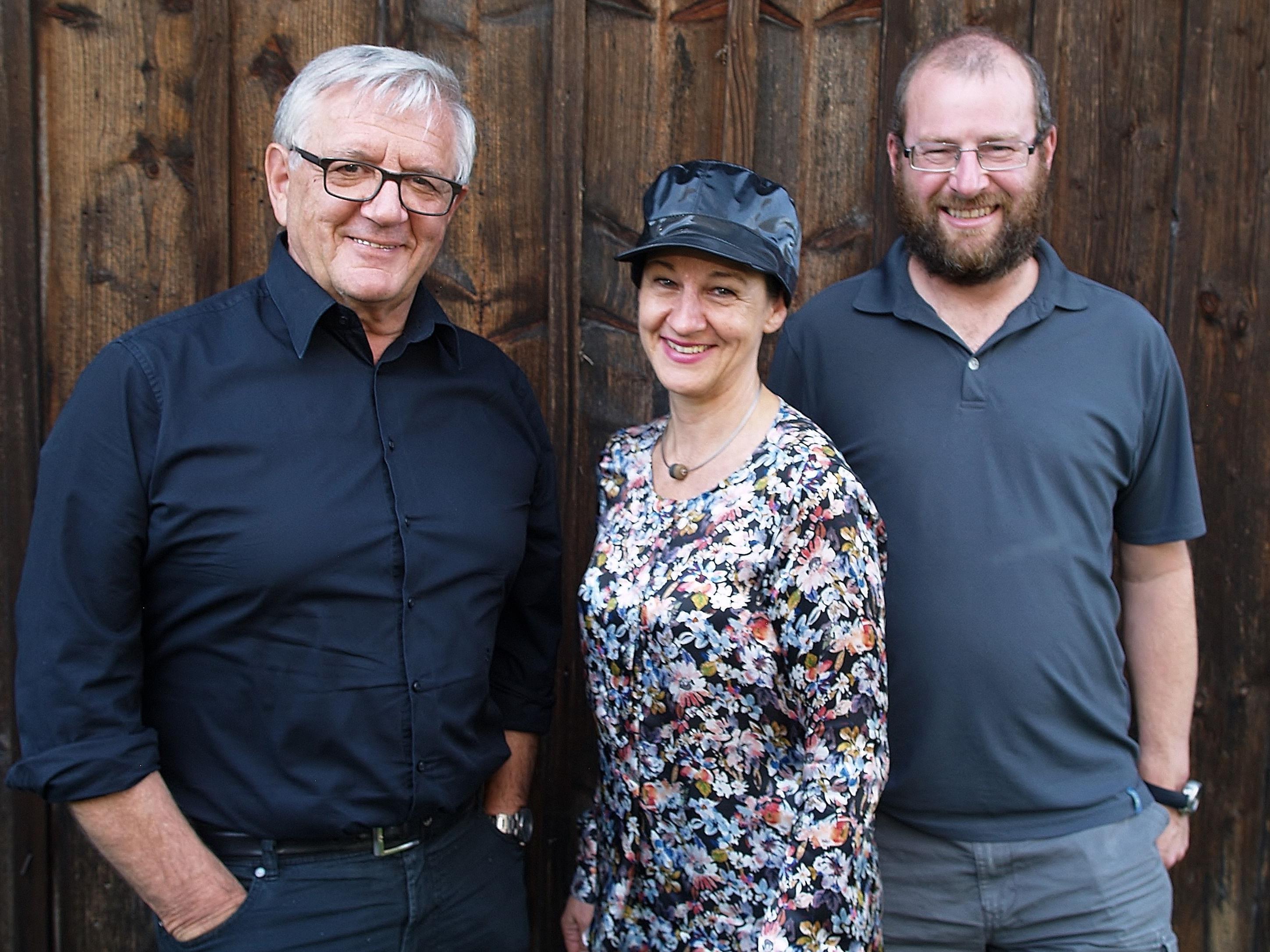 Slowfood - Team mit Franz Abbrederis, Sabine Venier und Präsident Vito Mussner