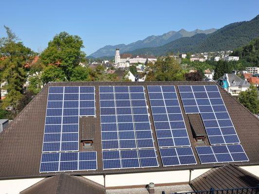 Photovoltaikanlage Mittelschule Bludenz.
